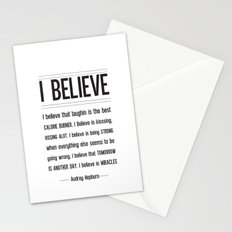 I BELIEVE - Audrey Hepburn Stationery Cards