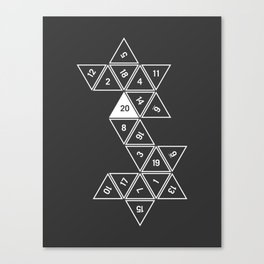 Unrolled D20 Canvas Print