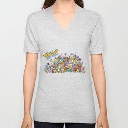 Pokémon - Gotta derp 'em all! - Group photo Unisex V-Neck