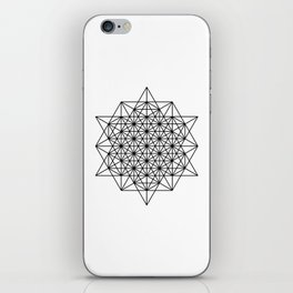 Star tetrahedron, sacred geometry, void theory iPhone Skin