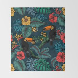 Tropical garden 2 Throw Blanket