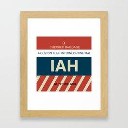 George Bush Intercontinental Airport Framed Art Print