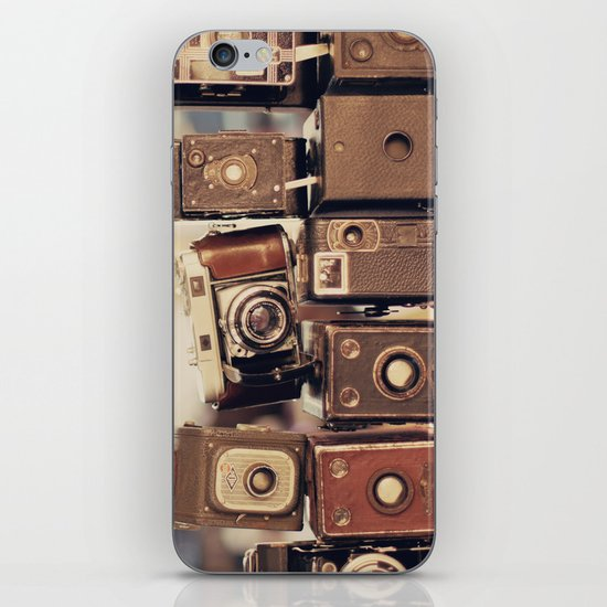Old Cameras (Vintage and Retro Film Cameras Collection) iPhone & iPod Skin