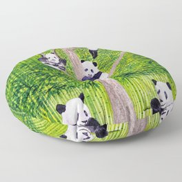 Giant Panda Bears - Hey It's Time To Eat Floor Pillow