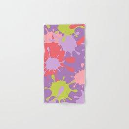 Paint Splatter-Purple+Pink+Green Hand & Bath Towel