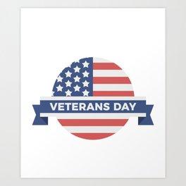 Veterans Day Commemorative Flag Design Art Print