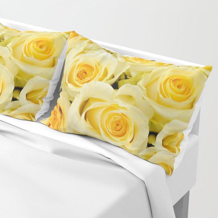 soft yellow roses close up Pillow Sham