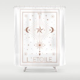 L'Etoile or The Star White Edition Shower Curtain