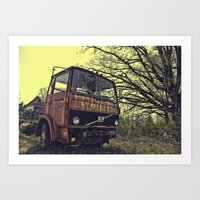 truck Art Prints featuring truck by idolmindzmedia