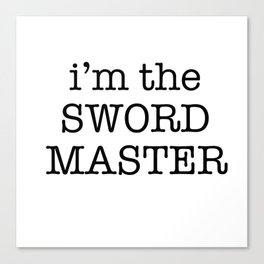sword master Canvas Print