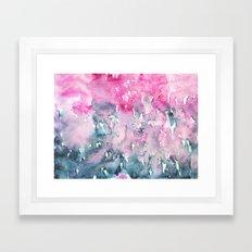 When indigo loves pink || watercolor Framed Art Print