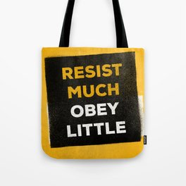 Resist much obey little Tote Bag