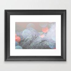 Bokeh Lights on Mountains Framed Art Print