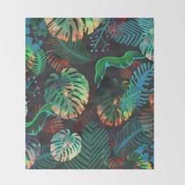 Colorful Tropical Throw Blanket