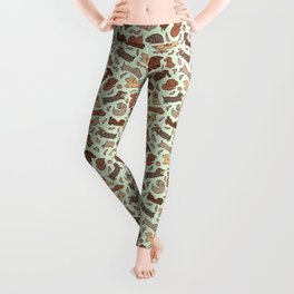 Wiener Dog Wonderland Leggings