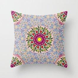 Garden Party Doodle Art Throw Pillow