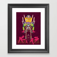 Krusty the Biker Gang Neo-Tokyo Clown Framed Art Print