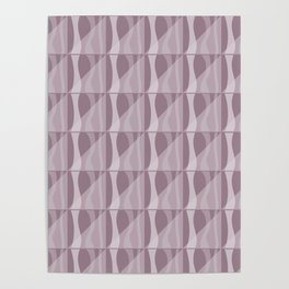 Simple Geometric Pattern 2 in Musk Mauve Poster