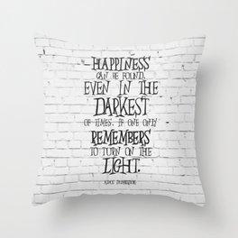 Albus Dumbledore Quote Inspirational Throw Pillow