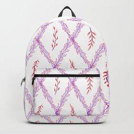 Modern violet pink watercolor geometrical floral Backpack