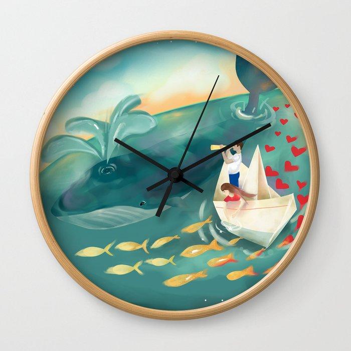 Adventures at Sea Wall Clock