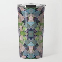 Sea glass mosaic Travel Mug