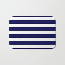 Navy Blue & White Stripes- Mix & Match with Simplicity of Life Bath Mat