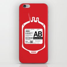 My Blood Type is AB, for Absolute Bomb! iPhone & iPod Skin