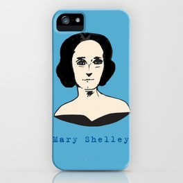 Mary Shelley, hand-drawn portrait iPhone Case