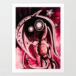 Hellish mermaid Art Print