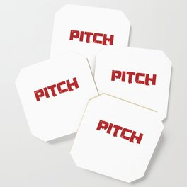 Life's A Pitch Pitcher Batter Baseball Game Bat League Players Gift Coaster