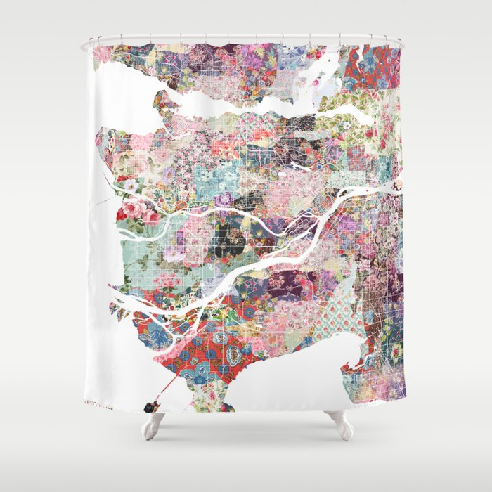 Vancouver map Canada Shower Curtain by poeticmaps | Society6