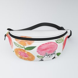 Cat in the Flowers Fanny Pack