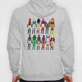 Superheroine Butts Hoody
