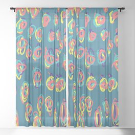 I don't need a why for freehand graphic design Sheer Curtain