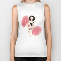 burlesque Biker Tanks featuring Burlesque Bombshell by Stasia B