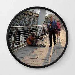 Hungerford Bridge Busker Wall Clock