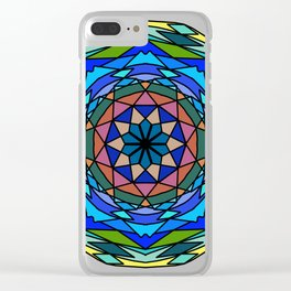 Zentangl creativity Round ornament Clear iPhone Case