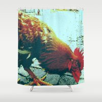 cock Shower Curtains featuring cock by habish