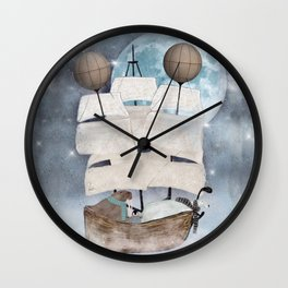 an arctic adventure Wall Clock