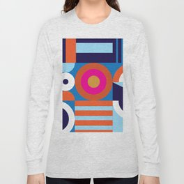 Modernist Pattern Long Sleeve T-shirt