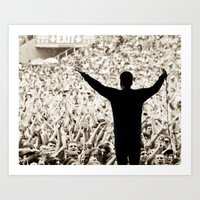 concert Art Prints featuring concert by fscVisuals