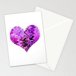 wind heart violet Stationery Cards