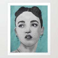 fka twigs Art Prints featuring FKA Twigs by Char Stefanski