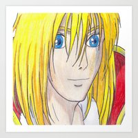 howl Art Prints featuring Howl by ArtByHallie