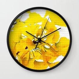 Yellow Ginko Leaves  Wall Clock