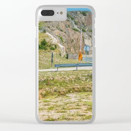 Landscape with mountain and road in Krk island, Croatia Clear iPhone Case