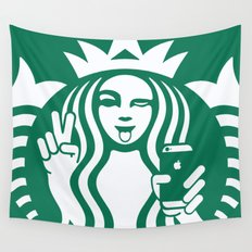 Selfie - 'Starbucks ICONS' Wall Tapestry