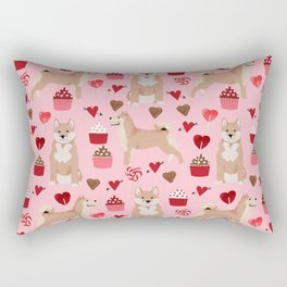 Shiba Inu valentines day love pet dog lover unique dog breeds pet portraits custom designs Rectangular Pillow