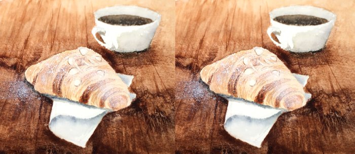 Croissant and Coffee Coffee Mug